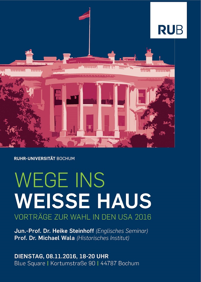 Thumbnail for the post titled: Wege ins Weiße Haus: Vorträge zur Wahl in den USA 2016